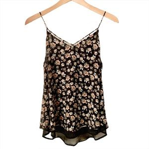 Sienna Sky Flowered Sheer Floral Camisole Top